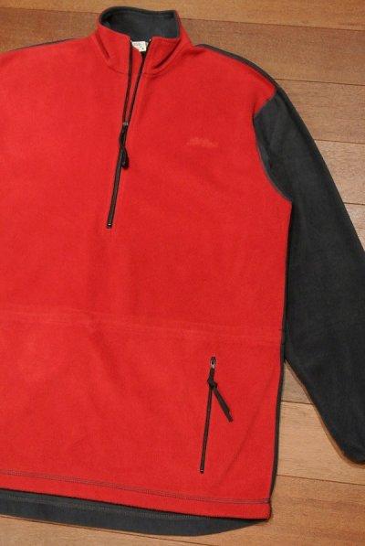 画像2: 【EXCELLENT USED】L.L Bean フリース アノラック Made in USA【Gray/Red,M】アメリカ製 中古
