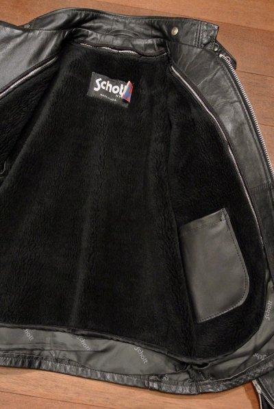 画像3: 【USED】Schott レザーシングルライダースジャケット ライナー付き アメリカ製 #641【Black/40】中古