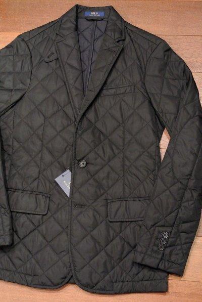 画像1: ポロラルフローレン キルティング テイラードジャケット【Black/S】新品 定価39600