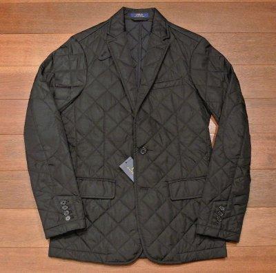 画像2: ポロラルフローレン キルティング テイラードジャケット【Black/S】新品 定価39600