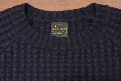 画像3: Letroyes(ルトロワ) ウールカシミアワッフル×モヘアクルーネック セーター【NAVY/M】新品 定価35640