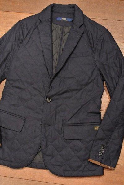 画像1: ポロラルフローレン ウール キルティング テイラードジャケット【DarkNavy/S】新品 $595