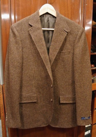 画像2: ポロラルフローレン ツイード テイラードジャケット【Brown/40-R】新品