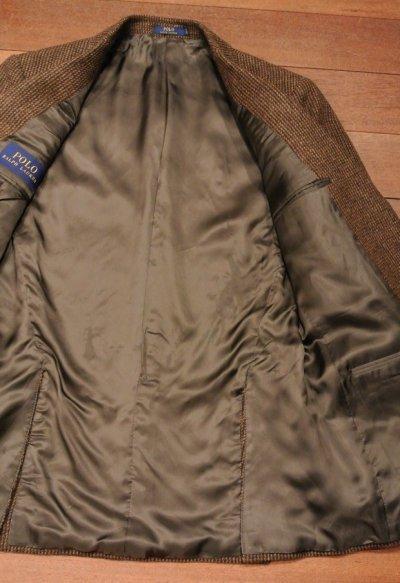 画像3: ポロラルフローレン ツイード テイラードジャケット【Brown/40-R】新品