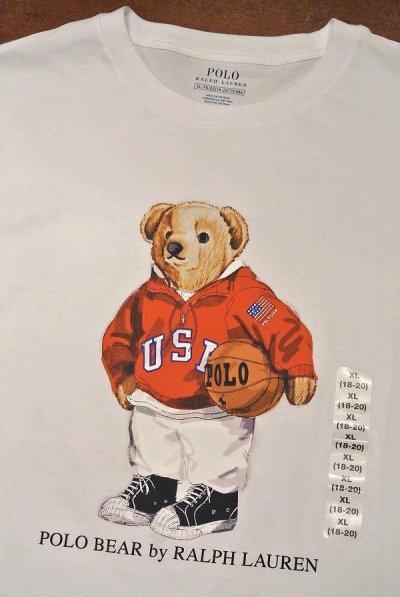画像3: 【クリックポスト170円も可】ポロラルフローレン ポロベアー Tシャツ バスケットボール【White/Boys XL】新品 並行輸入