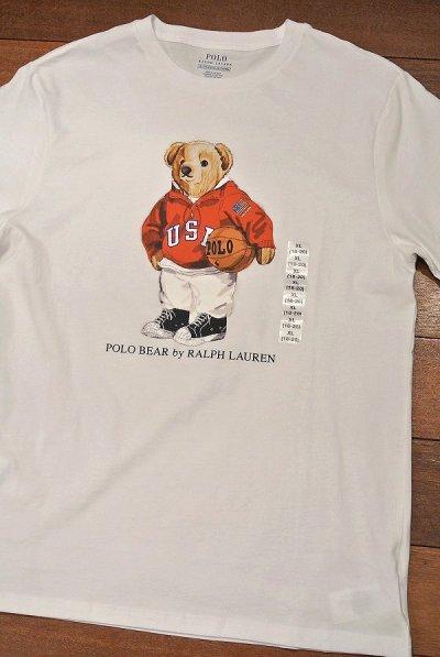 画像1: 【クリックポスト170円も可】ポロラルフローレン ポロベアー Tシャツ バスケットボール【White/Boys XL】新品 並行輸入