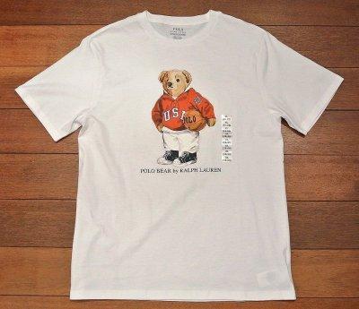 画像2: 【クリックポスト170円も可】ポロラルフローレン ポロベアー Tシャツ バスケットボール【White/Boys XL】新品 並行輸入