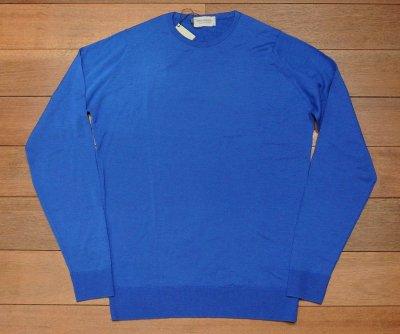 画像2: 未使用品 JOHN SMEDLEY ジョンスメドレー メリノウール C/N セーター【BLUE/M】