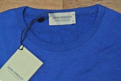 画像3: 未使用品 JOHN SMEDLEY ジョンスメドレー メリノウール C/N セーター【BLUE/M】