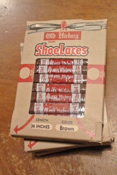 画像1: 【クリックポスト198円も可】Deadstock デッドストック シューレース 靴紐 平紐【ブラウン/36インチ/91cm】6-7ツ穴