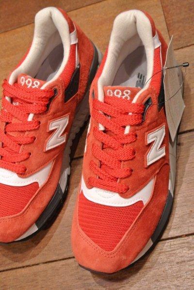 画像1: NEW BALANCE 998  Made in USA 【RED, 5-D (23cm) 】ニューバランス998 アメリカ製 新品 箱無し