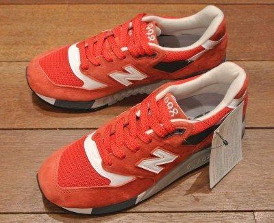 画像3: NEW BALANCE 998  Made in USA 【RED, 5-D (23cm) 】ニューバランス998 アメリカ製 新品 箱無し
