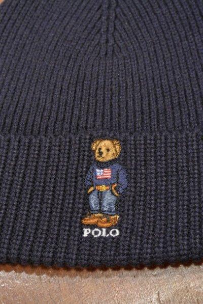 画像2: 【クリックポスト185円も可】ポロラルフローレン ポロベアー刺繍 ニットキャップ【Navy】 新品 並行輸入