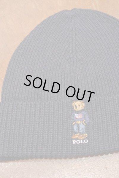 画像1: 【クリックポスト185円も可】ポロラルフローレン ポロベアー刺繍 ニットキャップ【Navy】 新品 並行輸入 (1)
