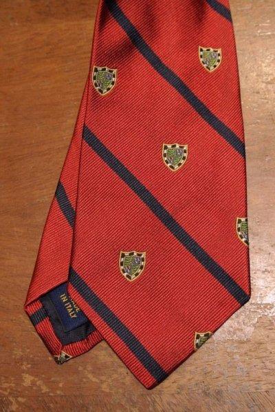 画像2: 【クリックポスト185円も可】ポロラルフローレン エンブレム刺繍 シルクネクタイ【Red*Navy】新品