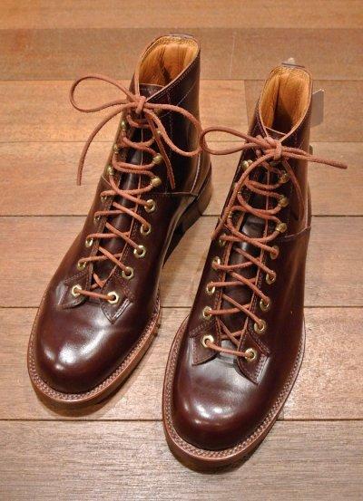 画像1: デッドストック WOLVERINE コードバン ブーツ【BROWN/US8.5/JPN26.5】1000MILE BOOTS