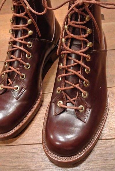 画像2: デッドストック WOLVERINE コードバン ブーツ【BROWN/US8.5/JPN26.5】1000MILE BOOTS