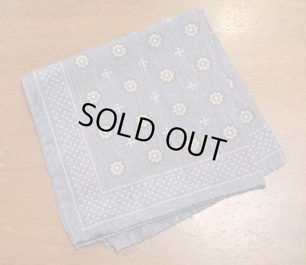 画像1: 【クリックポスト198円も可】 AllenEdmonds Silk×Ctton ポケットチーフ【Blue】イタリア製 新品 定価$75.00 (1)