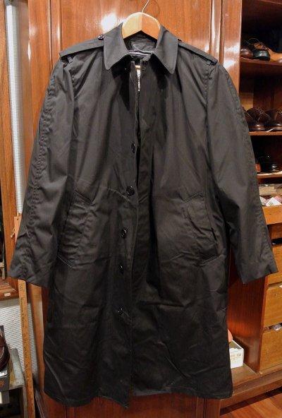 画像1: 1984年製 デッドストック US NAVY ALL WEATHER COAT ステンカラーコート 【Black / 34-R】