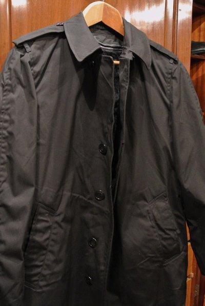 画像2: 1984年製 デッドストック US NAVY ALL WEATHER COAT ステンカラーコート 【Black / 34-R】