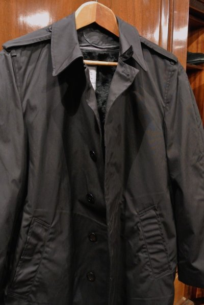 画像2: 1984年製 デッドストック US NAVY ALL WEATHER COAT ステンカラーコート 【Black / 36-R】
