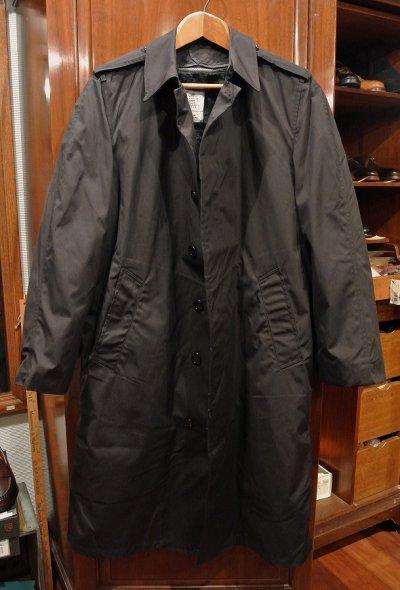 画像1: 1984年製 デッドストック US NAVY ALL WEATHER COAT ステンカラーコート 【Black / 36-R】