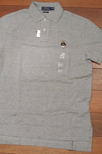 画像2: 【クリックポスト188円も可】ポロラルフローレン ポロベアー 鹿の子ポロシャツCUSTOM FIT【Gray/L】新品 並行輸入