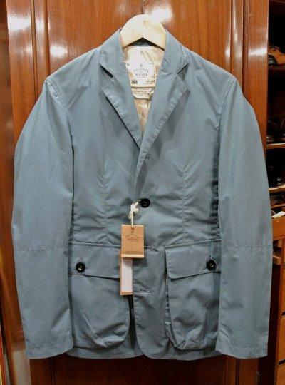 画像1: Private White V.C. Combat Blazer プライベートホワイト オイルドコットン  ジャケット イングランド製【Blue/1 (S)】新品