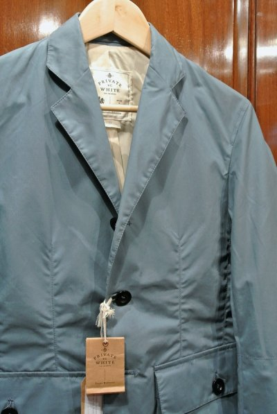 画像2: Private White V.C. Combat Blazer プライベートホワイト オイルドコットン  ジャケット イングランド製【Blue/1 (S)】新品