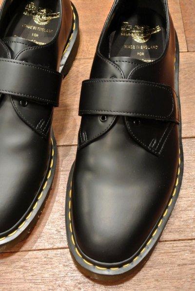 画像2: 新品 エンジニアドガーメンツ×ドクターマーチン イングランド製 ベルクロプレーントゥ (BLACK/US9) Engineered Garments×Dr.Martens VELCRO