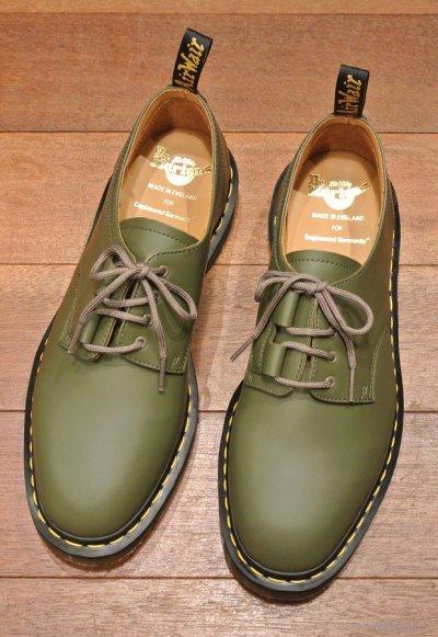 画像1: 新品 エンジニアドガーメンツ×ドクターマーチン イングランド製 プレーントゥ (Khaki/US10) Engineered Garments×Dr.Martens
