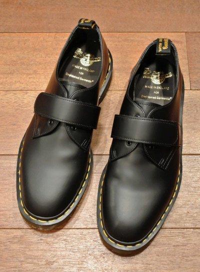 画像1: 新品 エンジニアドガーメンツ×ドクターマーチン イングランド製 ベルクロプレーントゥ (BLACK/US9) Engineered Garments×Dr.Martens VELCRO