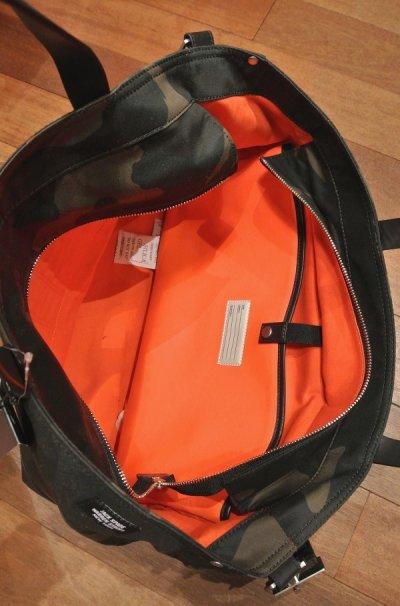 画像3: JACK SPADE(ジャックスペード) カモツイル×レザー トート+ショルダーバッグ CAMO WAXWEAR COAL BAG ( Camo×Black)  新品 並行輸入