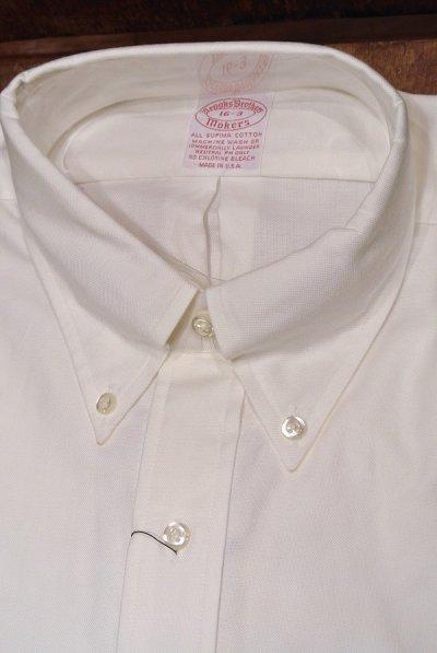 画像2: 90年代 デッドストック ブルックスブラザーズ オックスフォード B.Dシャツ (White,16-3)BrooksBrothers アメリカ製 ダンリバー生地使用