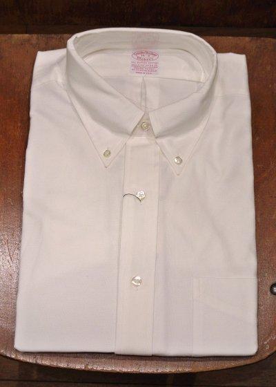 画像1: 90年代 デッドストック ブルックスブラザーズ オックスフォード B.Dシャツ (White,16-3)BrooksBrothers アメリカ製 ダンリバー生地使用