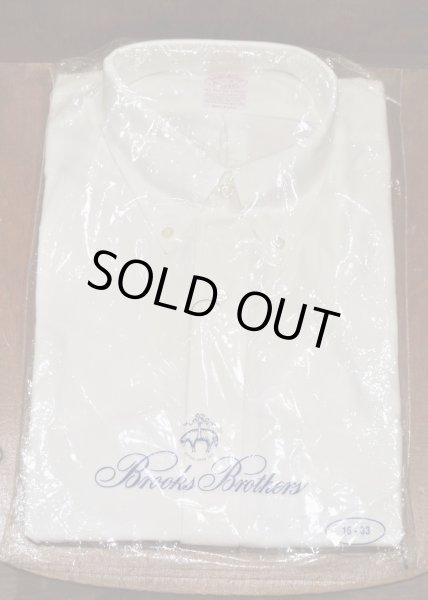 画像1: 90年代 デッドストック ブルックスブラザーズ オックスフォード B.Dシャツ (White,16-3)BrooksBrothers アメリカ製 ダンリバー生地使用 (1)