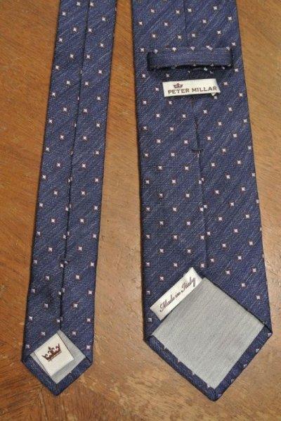 画像3: 【クリックポスト185円も可】PETER MILLAR シルク ネクタイ イタリア製 (Blue) 新品