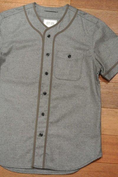 画像1: 未使用品 CITY GYM TODD SNYDER トッドスナイダー ウールフランネル ベースボールシャツ(Gray/M)