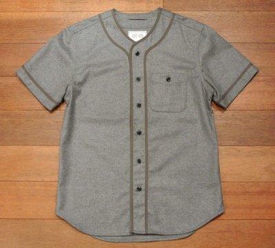 画像2: 未使用品 CITY GYM TODD SNYDER トッドスナイダー ウールフランネル ベースボールシャツ(Gray/M)
