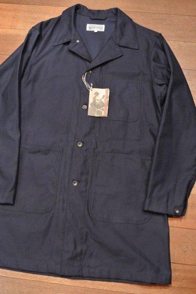画像1: Engineered Garments WORKADAY(エンジニアドガーメンツ) コットンツイル ショップコート(Navy/L) 新品