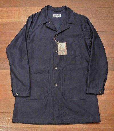 画像2: Engineered Garments WORKADAY(エンジニアドガーメンツ) コットンツイル ショップコート(Navy/L) 新品