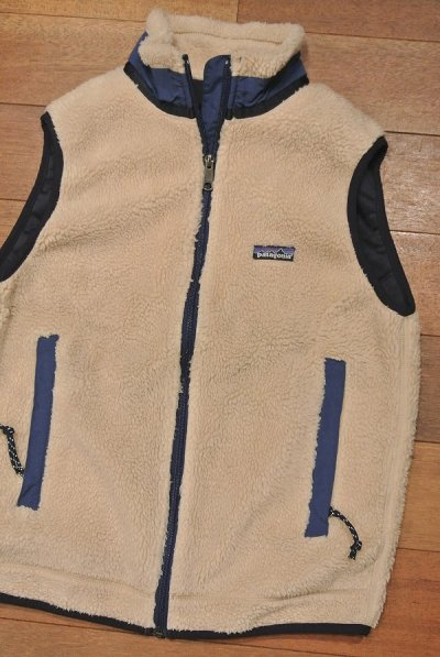 画像1: 【'96 VTG/GOOD USED】Patagonia Retro-X Vest レトロXベスト アメリカ製 (Natural/S)グッドコンディションユーズド