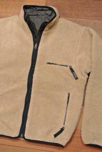 画像1: 【'97 VTG/GOOD USED】Patagonia Pile Glissade Cardigan リバーシブルグリセード アメリカ製 (Natural/Gray,S)グッドコンディションユーズド