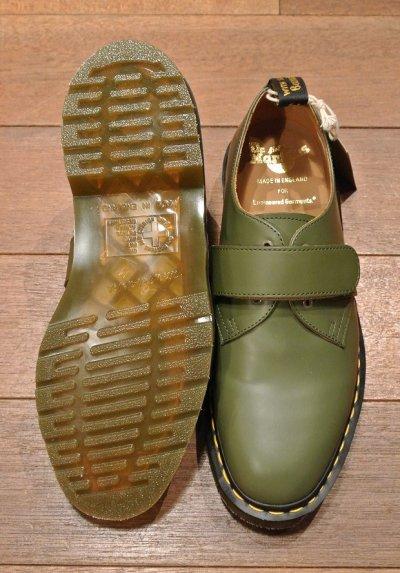 画像3: 新品 エンジニアドガーメンツ×ドクターマーチン イングランド製 ベルクロプレーントゥ (GREEN/US8) Engineered Garments×Dr.Martens VELCRO