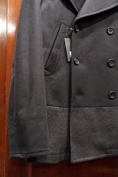 画像2: JACK SPADE(ジャックスペード) DIPPED WOOL PEACOAT ウール ピーコート(NAVY, S / M) 新品 日本未発売 並行輸入 $598 カシミヤ