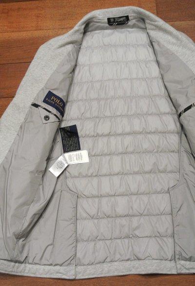 画像3: ポロラルフローレン 中綿キルティング カットソー テイラードジャケット(Gray/S) 新品 定価41040