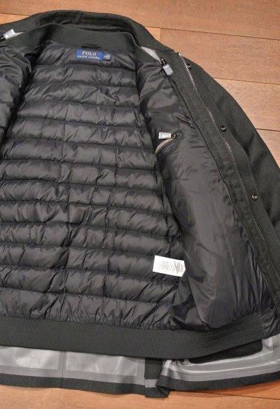 画像2: ポロラルフローレン ウールゴム引き ボンディングジャケット ダウンライナー付き(Gray/M)新品 並行輸入 $695