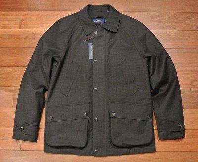 画像1: ポロラルフローレン ウールゴム引き ボンディングジャケット ダウンライナー付き(Gray/M)新品 並行輸入 $695