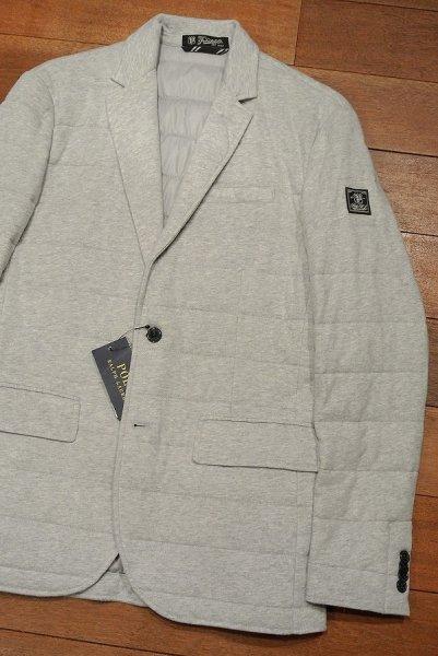 画像1: ポロラルフローレン 中綿キルティング カットソー テイラードジャケット(Gray/S) 新品 定価41040 (1)