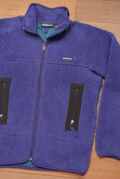 画像1: 【'95 VTG/USED】Patagonia Retro-X Jacket レトロXジャケット アメリカ製 (Blueberry/S)中古
